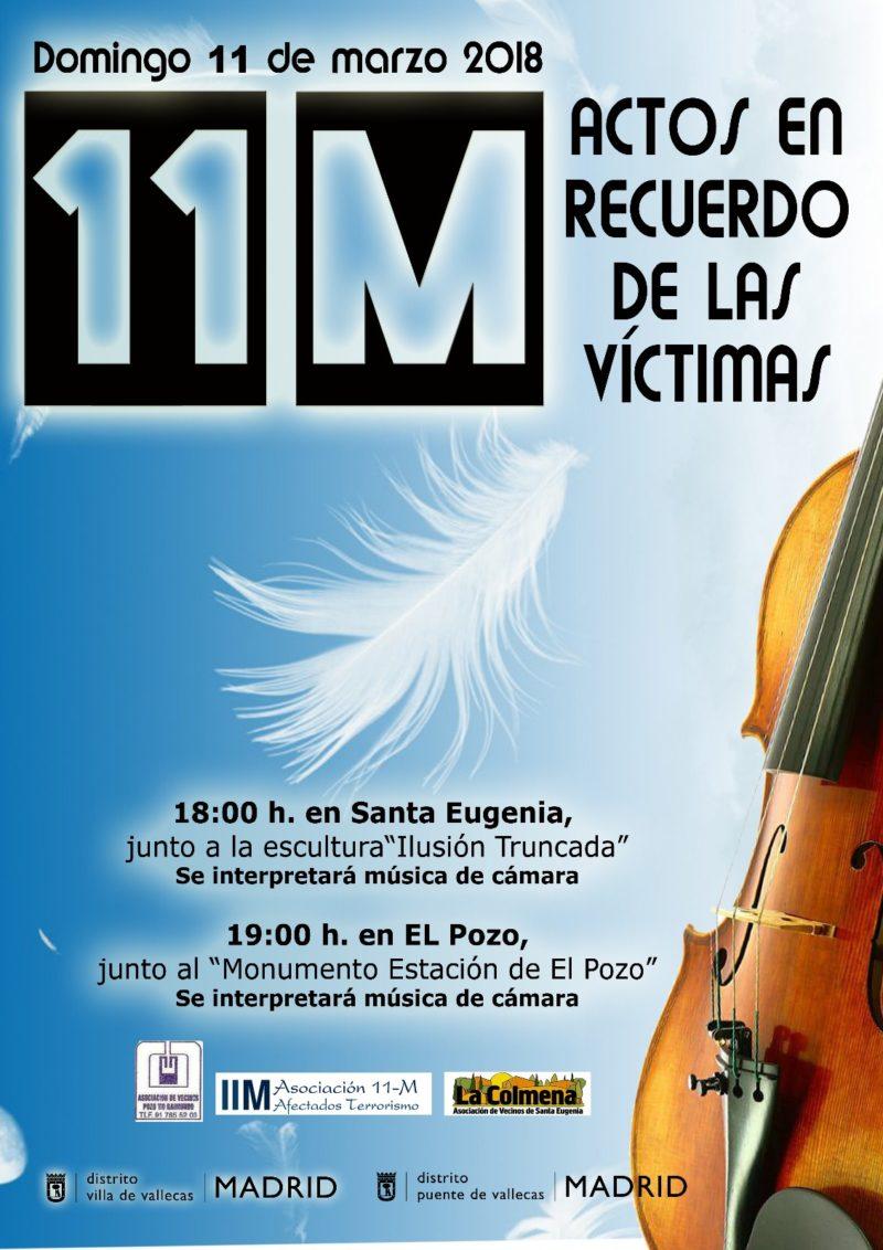 Cartel 11M 2018 para actos de Santa Eugenia y El Pozo