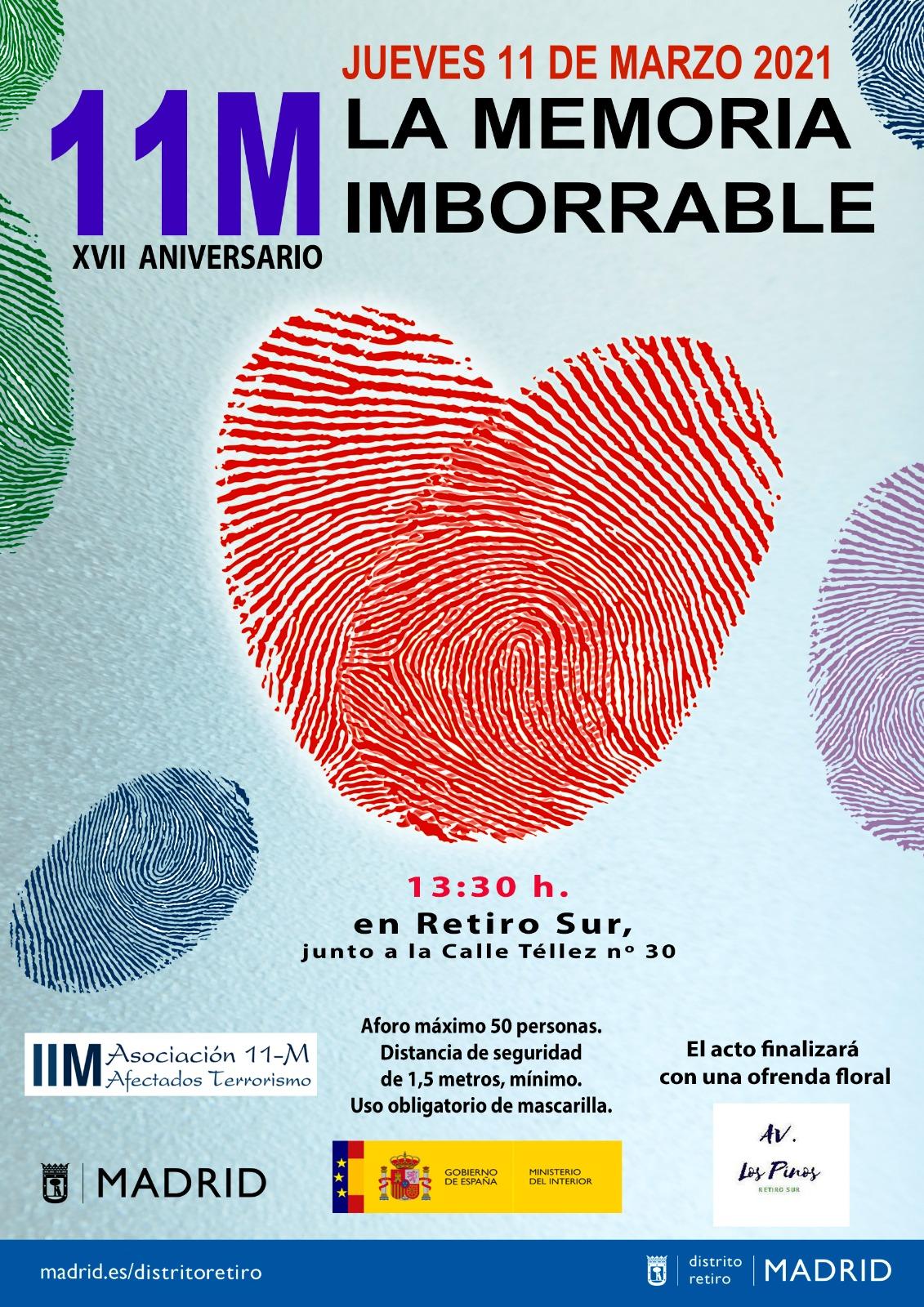 11M La Memoria Imborrable, C/ Téllez