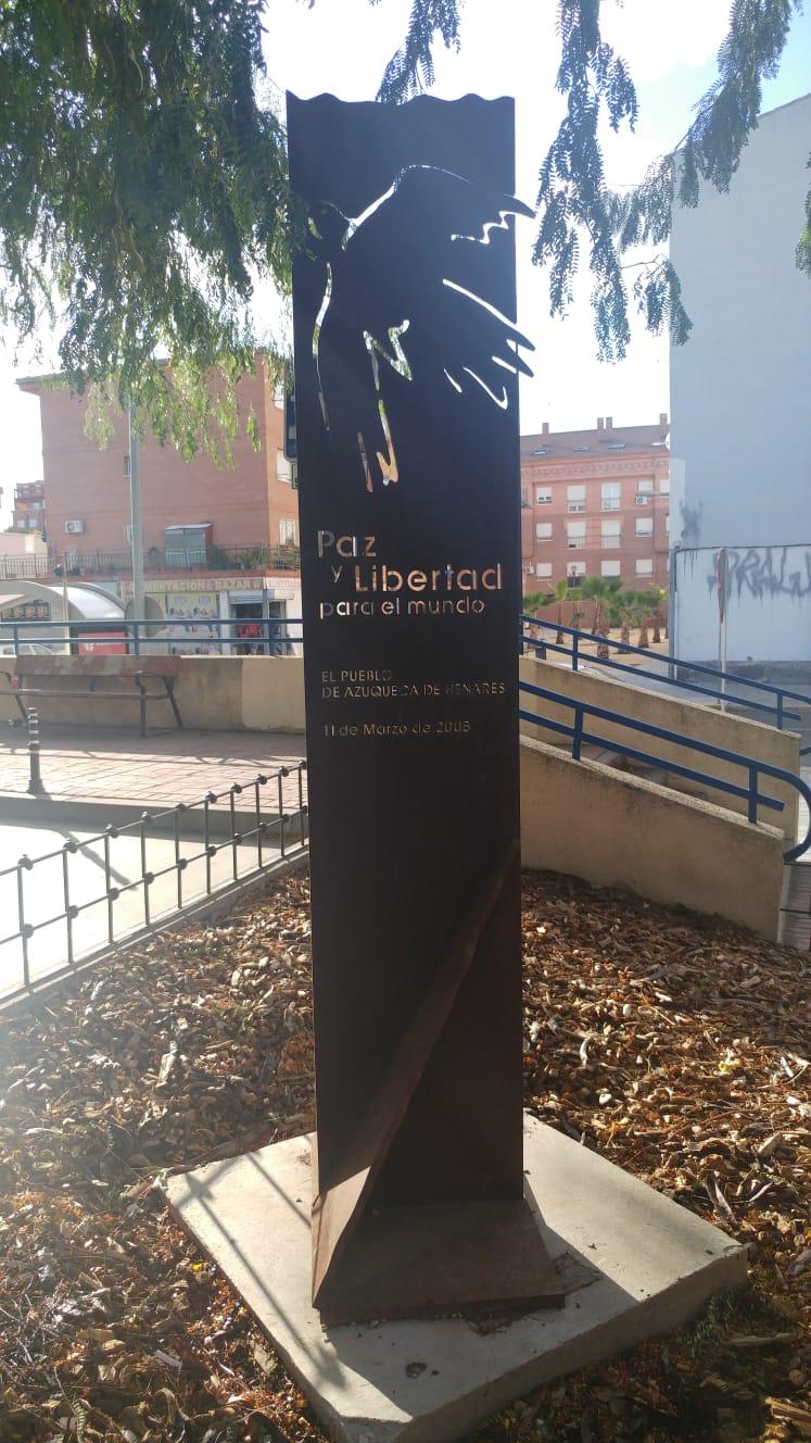 Monumento a las víctimas del 11-M en Azuqueca de Henares