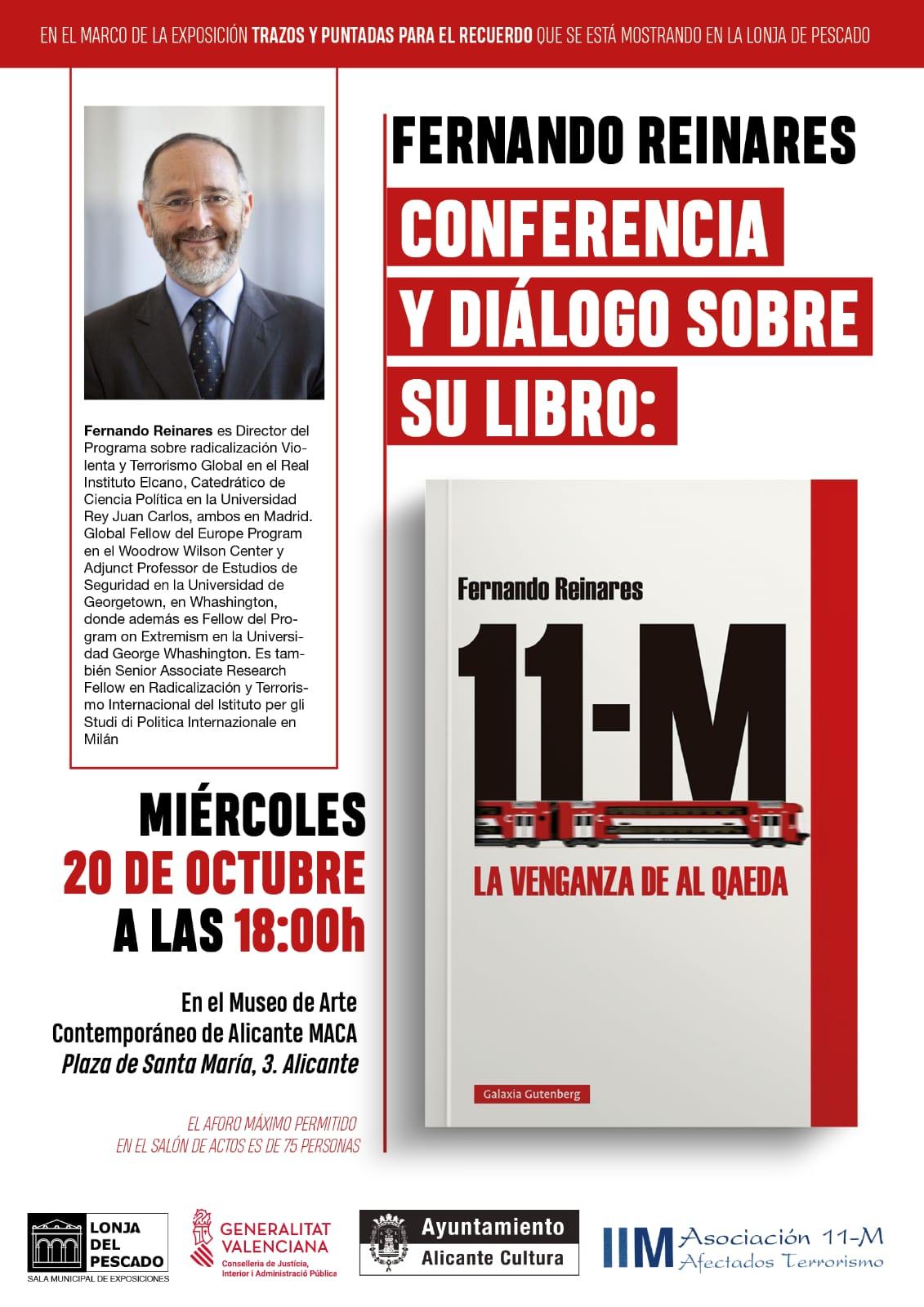 """Conferencia Fernando Reinares """"11-M La venganza de Al Qaeda"""""""